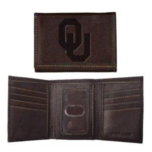 Contrast Stitch Tri-fold Wallet