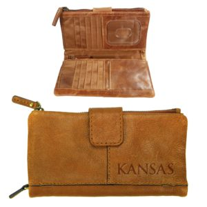 Westbridge Leather Snap Clutch Wallet