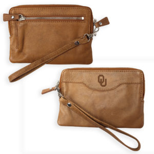Leather Zip-Around Clutch Wallet