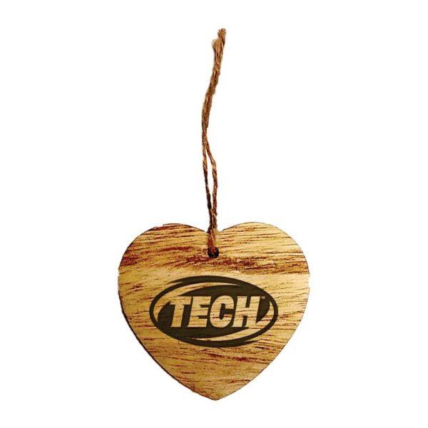 Wood Engraved Ornaments - Heart - MGIF001
