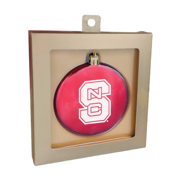 Flat Shatterproof Ornaments + Box - Red